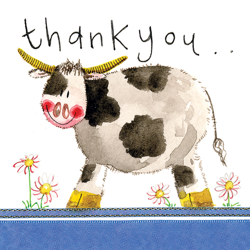 Cow Thank You Greeting Card