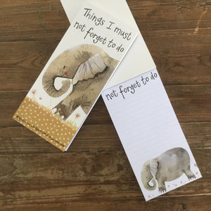 Nellie Elephant Magnetic To Do List