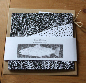 Sea Trout Concertina Greetings Card