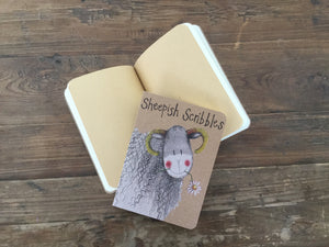 Sheep Small Kraft Notebook