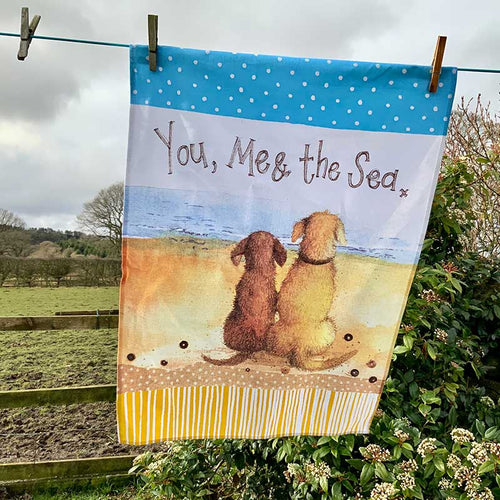 You, Me and The Sea Tea Towel