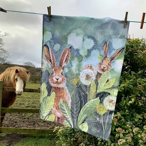 Little Rabbits Tea Towel