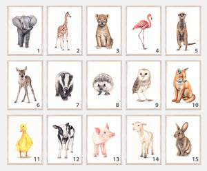 Nursery Farm Animals Print Set