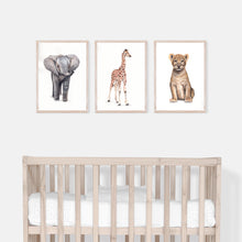 Load image into Gallery viewer, Nursery Safari Animals Print Set