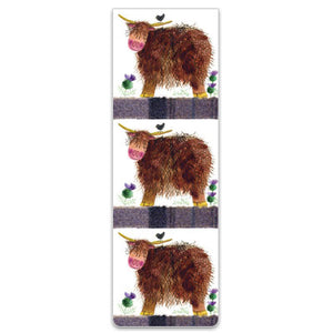 Hamish Highland Cow Magnetic Bookmark