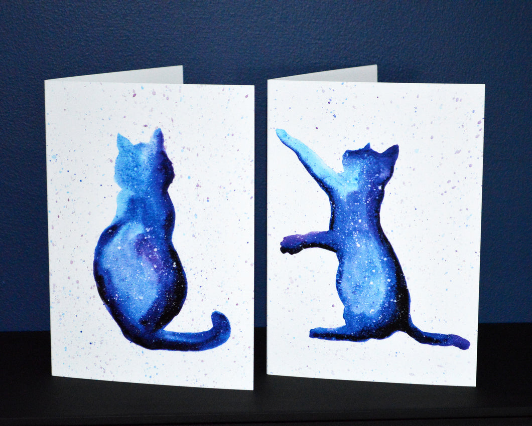 Set of 4 Cat Greeting Cards