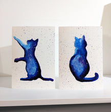 Load image into Gallery viewer, Set of 4 Cat Greeting Cards