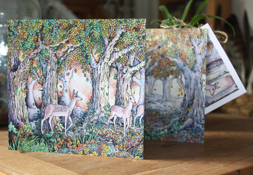 The Woodland Edge Concertina Greetings Card