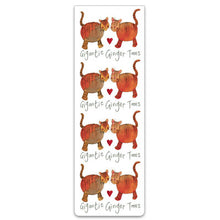 Load image into Gallery viewer, Gigantic Ginger Toms Cats Magnetic Bookmark