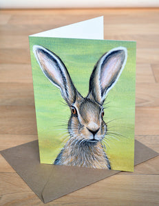 Hare Greeting Card