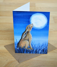 Load image into Gallery viewer, Moongazing Hare Greeting Card
