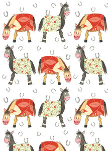 Birthday Horses - Bagged Gift Wrap with Tags