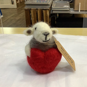 Needle Felted Herdwick Sheep With Heart