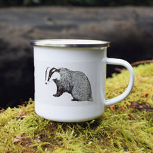 Load image into Gallery viewer, Three Badgers Enamel Mug