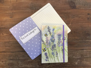 Bees Lavender Large Chunky Notebook