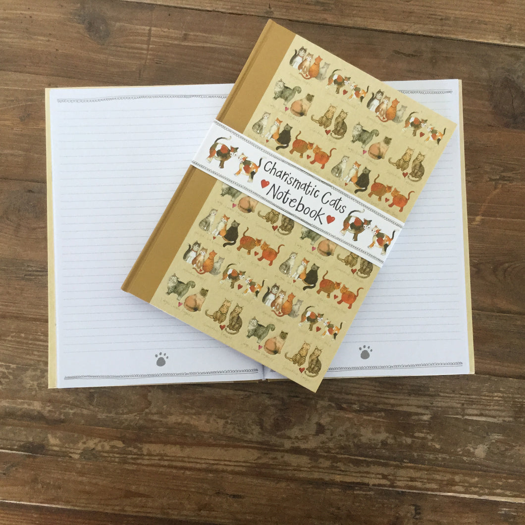 Charismatic Cats Large Hardback Journal