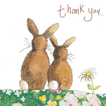 Thank You Bunnies Greeting Card