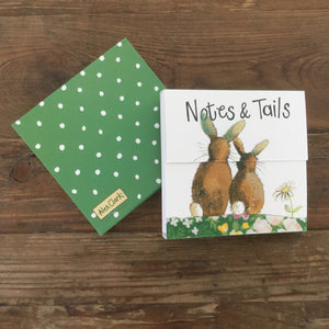 Notes and Tails Rabbits Magnetic Notepad