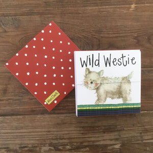 Wild Westie Mini Magnetic Notepad