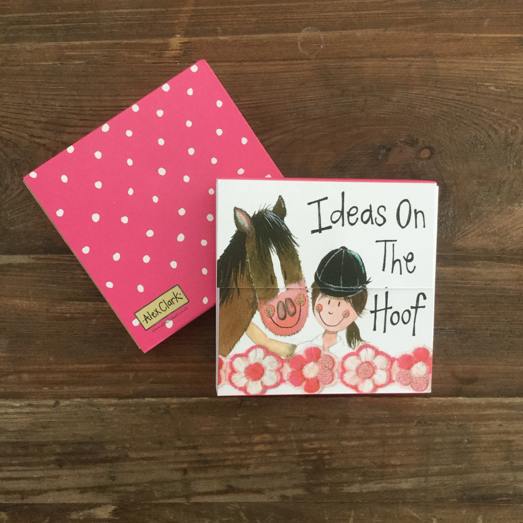 Horse and Rider Mini Magnetic Notepad
