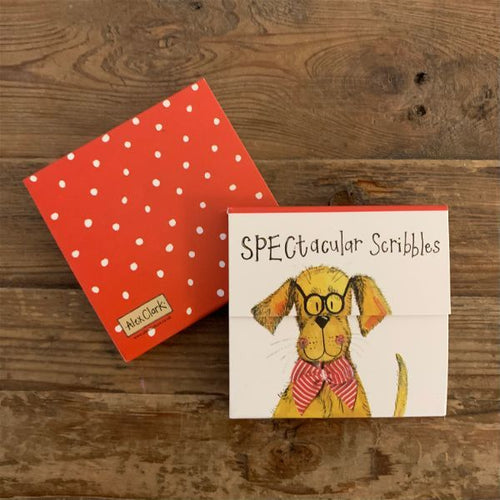 Spectacular Scribbles Dog Mini Magnetic Notepad