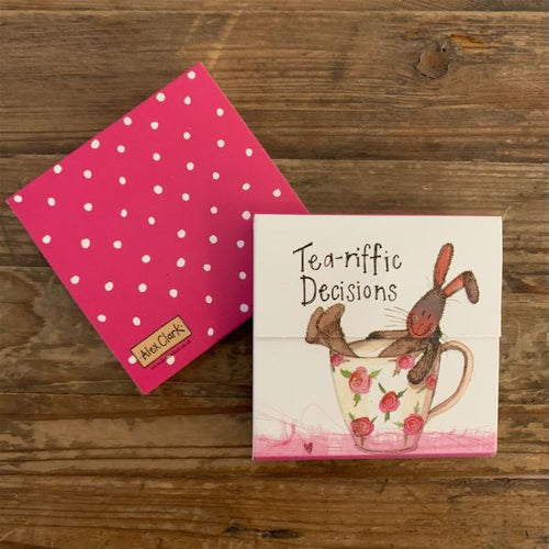 Tea-riffic Decisions Hare Mini Magnetic Notepad
