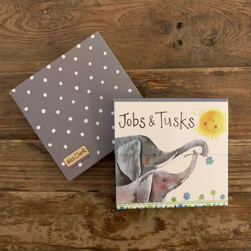 Jobs and Tusks Elephant Mini Magnetic Notepad