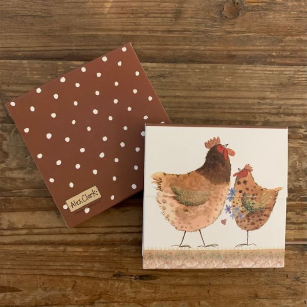 Chickens Mini Magnetic Notepad