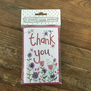 Thank You Flowers Notelets (5 Pack)