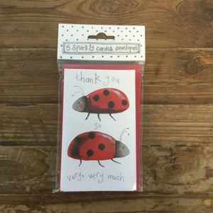 Thank You Ladybird Notelets (5 Pack)