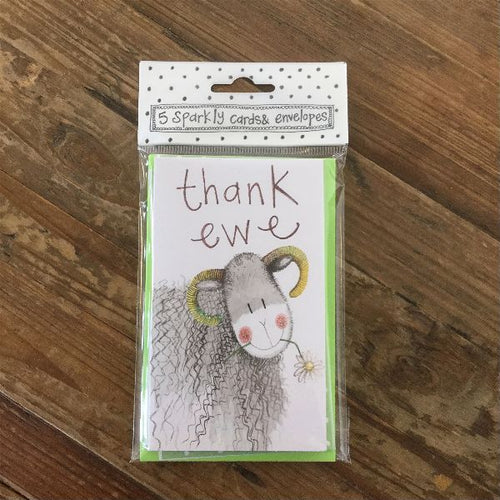 Thank Ewe Sheep Notelets (5 Pack)