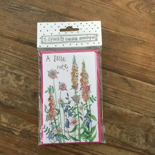 A Little Note Floral Notelets (5 Pack)
