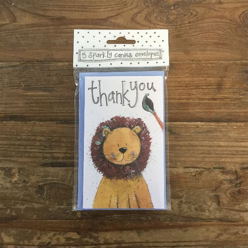 Lion Thank You Notelets (5 Pack)