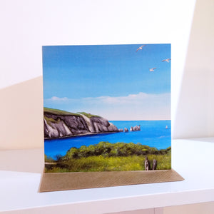 Isle of Wight Needles Greeting Card