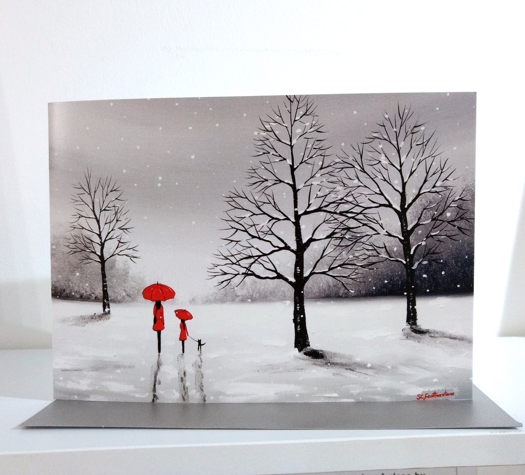 Our Winter Walk Greeting Card