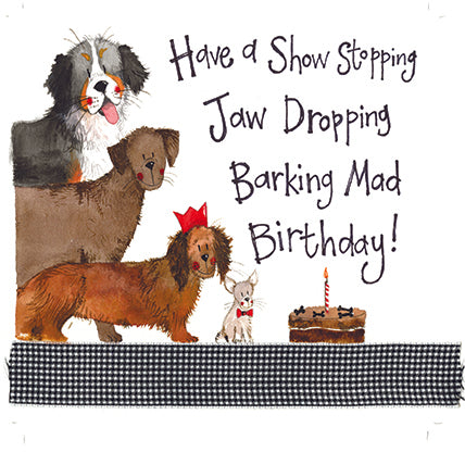Dogs Birthday Greeting Card