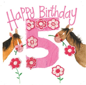 5 Birthday Greeting Card