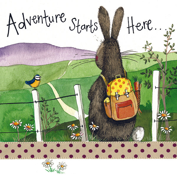 Adventure Starts Here Greeting Card
