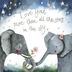 Starlight Elephants Card