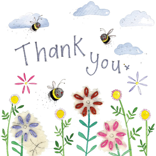 Thank You Bees Greeting Card