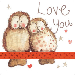 Love You Owls Greeting Card