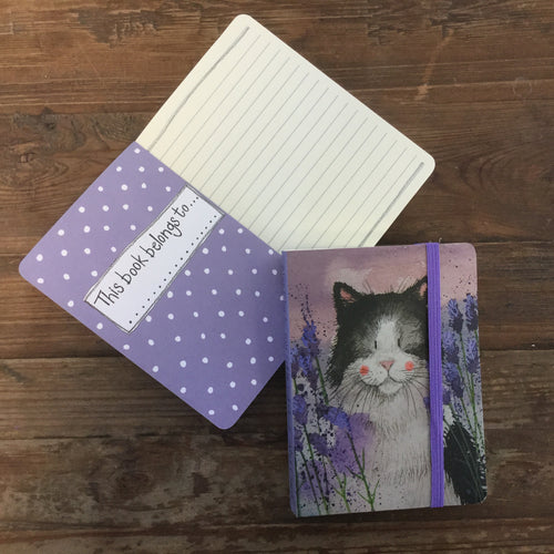 Lavender Cat Small Chunky Notebook