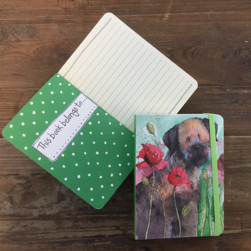 Border Terrier Dog Small Chunky Notebook