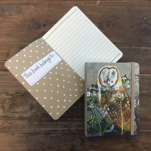 Barn Owl Small Chunky Notebook