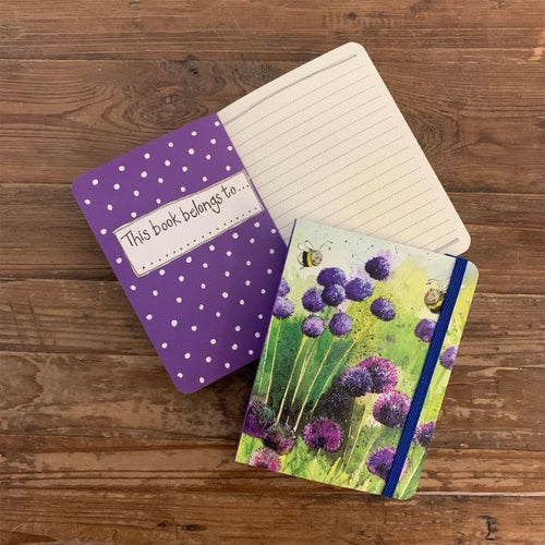 Alliums and Bees Small Chunky Notebook