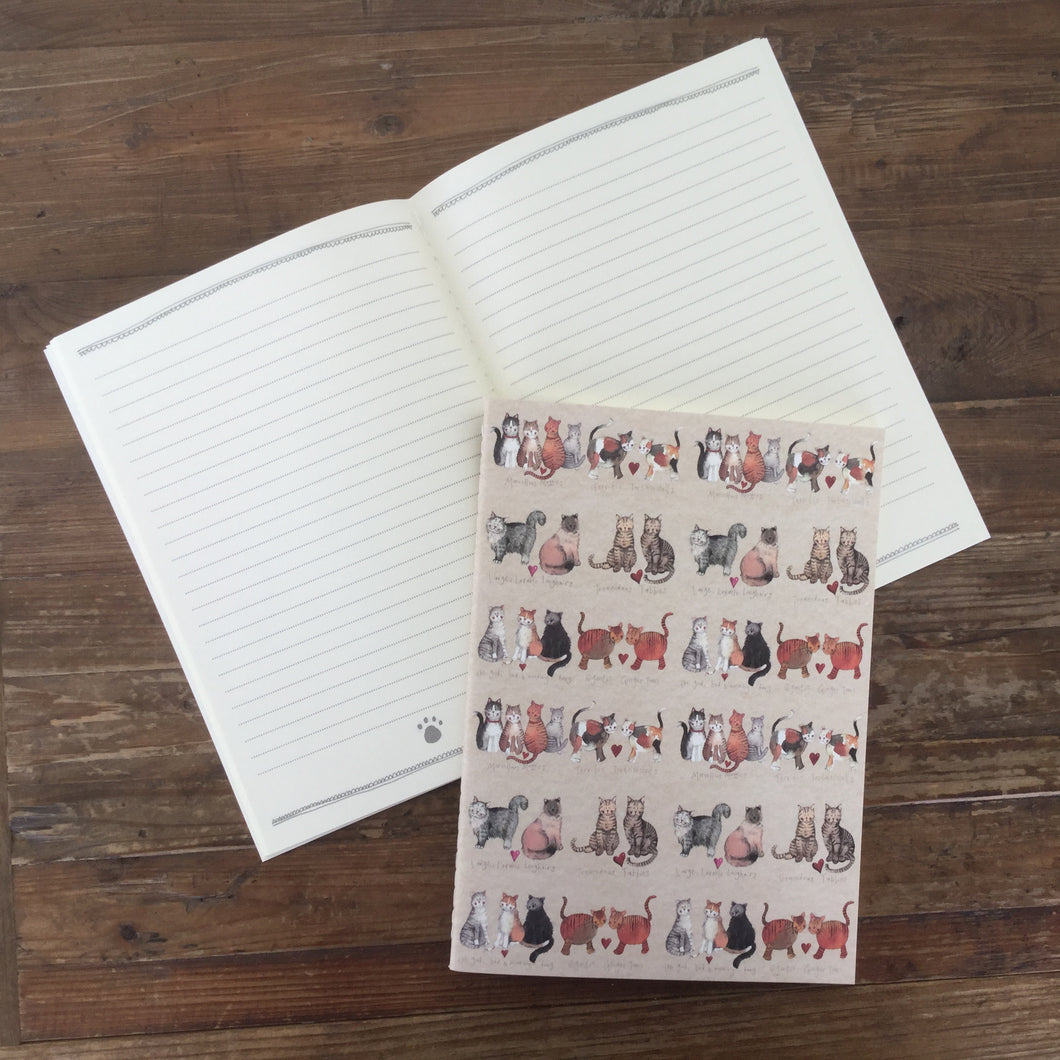 Charismatic Cats Large Soft Notebook