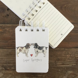 Super Springers Dog Small Spiral Bound Notepad