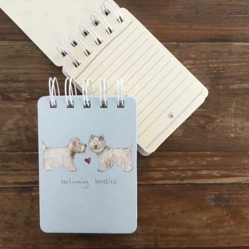 Welcoming Westies Dog Small Spiral Bound Notepad