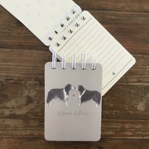 Clever Collies Dog Small Spiral Bound Notepad