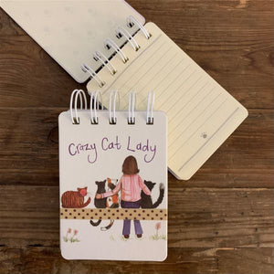 Crazy Cat Lady Small Spiral Bound Notepad